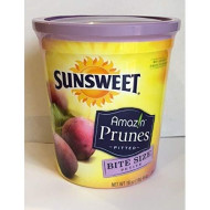 Sunsweet Amazin Prunes Pitted 16Oz Cans (Pack Of 6) Bite Size