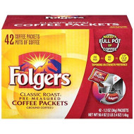 Folgers Classic Roast Ground Coffee Packets (1.2 Oz., 42 Ct.) (Pack Of 6)