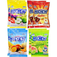 Hi Chew Peg Bag Bundle-Chewy Fruit Candy Bundle Assorted Flavors 8 Bags Featuring 4 Varieties