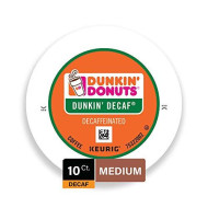 Dunkin' Donuts Original Blend Decaf Coffee K-Cup Pods, For Keurig brevers, 10 Count
