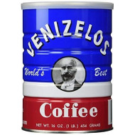 Venizelos Greek Style Ground Coffee, 1 Lb Jar (2 Pack)