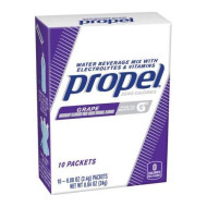 Propel Grape Water Beverage Mix With Electrolytes & Vitamins, 0.08 Oz, 10 Count (6 Pack)