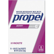 Propel Berry Water Beverage Mix with Electrolytes & Vitamins, 0.08 oz, 10 count (Pack of 12)