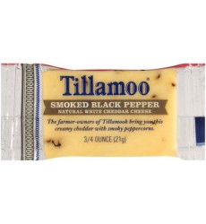 Tillamook smked Black Pepper White Cheddar Cheese, 0.75 Ounce - 100 Per Case.