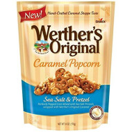 Werthers Original Sea Salt Popcorn, Caramel And Pretzel, 6 Ounce (Pack Of 3)