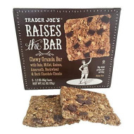 Trader Joes Raises the Bar Gluten Free Chewy Granola Bars, Dark Chocolate Chunk, 5 Count Box, (2 Pack)