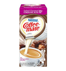 Nestle Coffee-Mate Coffee Creamer, Salted Caramel Chocolate, Liquid Creamer Singles, Pack Of 200