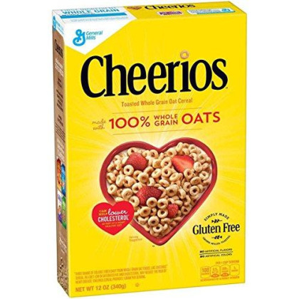 General Mills, Cereal, Cheerios, Pack Of 14, Size - 12 Oz, Quantity - 1 Case