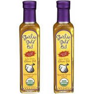 Usda Certified Organic Extra Virgin Olive Oil - Infused With Toasted Garlic, Low Fodmap, By Garlic Gold, 250 Ml (Pack Of 2)