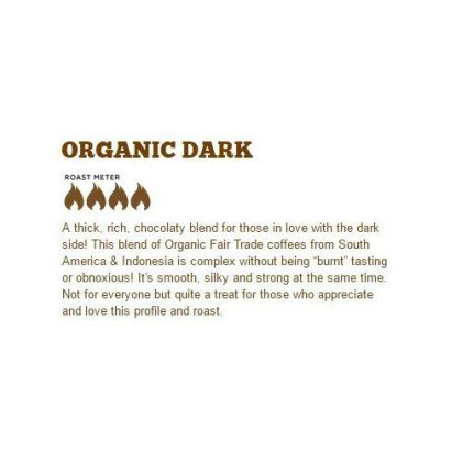 Dark Roast Organic Ground Coffee | 1 Lb Resealable Bag | Fair Trade & Rain Forest Rfa Certified | Full-Body, Bold, Rich Taste |100% Arabica Origin