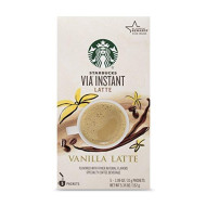 Starbucks Via Instant Vanilla Latte (1 Box Of 5 Packets)