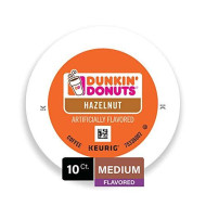 Dunkin' Donuts Hazelnut Flavored Coffee K-Cup Pods, For Keurig brevers, 10 Count