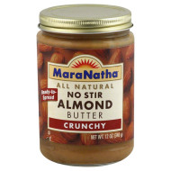 Maranatha Natural Almond Butter Crunchy No Stir, 12 Ounce (Pack Of 6) By Maranatha