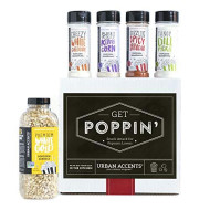 Urban Accents Get Poppin', Gourmet Popcorn Seasoning Gift Set (Set Of 5) - Delicious Non-Gmo Popcorn Kernels And 4 Gourmet Popcorn &Amp; Snack Mix Seasonings- Perfect Gift For Any Occasion
