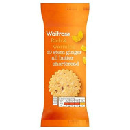 Stem Ginger Shortbread Waitrose 180g (Pack of 2)