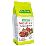 Seitenbacher Muesli #2 Berries Temptation Muesli, 3 Pack 16-Ounce Bag, Made In Germany