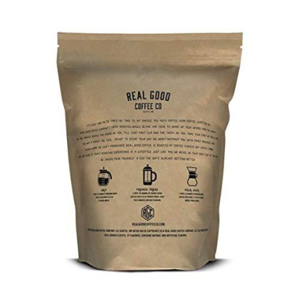 Real Good Coffee Co 2Lb, Whole Bean Coffee, Breakfast Blend Light Roast Coffee Beans, 2 Pound Bag