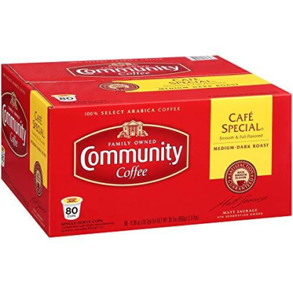 Community Coffee Single Serve 80 Ct (Cafe Special)
