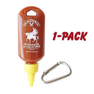 Sriracha Mini Keychain Bottle Hot Sauce, Mayo, Szechuan Sauce, Keyring Bottle (1-Pack, 1.7Oz) (Sauce Not Included)