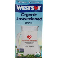 Westsoy Organic Unsweetened Soymilk Original -- 32 Fl Oz - 2 Pc