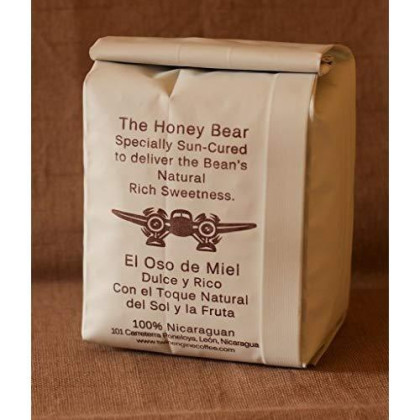 Honey-Bear - Reserve Limited Edition | Reserve Roast, Whole Bean, Nicaragua'S Coffee, 300G 10.6Oz | Rich Specialty Grade Coffee Packaged At The Source | By Twin Engine Coffee