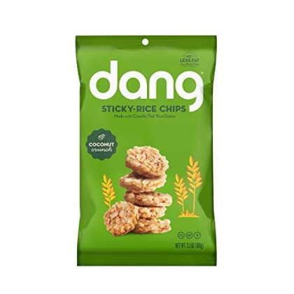 Dang Coconut Crunch Sticky Rice Chips, 3.50 Ounce - 12 Per Case.