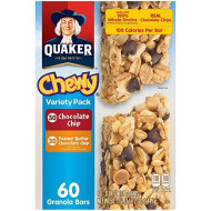 Quaker Chewy Granola Bars Variety Pack, 60 Ct. (Pack Of 6)