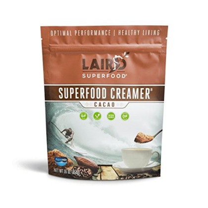 Laird Superfood Coffee Creamer Cacao | Non-Dairy | Paleo | Gluten Free | Vegan | Soy Free - 1 Lb Bag