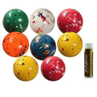 """Jumbo Jawbreaker 8 Pack (1 Lb) Sconza 1 3/4"""" The Bruiser Individually Wrapped With A Jarosa Chocolate Bliss Lip Balm By Jarosa Gifts"""