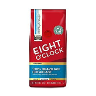 Eight O'Clock Ground Coffee, 100% Brazilian Breakfast, 11 Ounce ( 2 Pack )