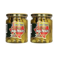 Talk O Texas Okra Pickles, Hot, 16 Oz (Pack Of 2)