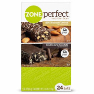 Zone Perfect Nutrition Bars Dark Chocolate Variety Pack, 24 Ct. (Pack Of 2)