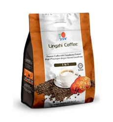 10 Packs Dxn Lingzhi 3 In 1 Healthy Coffee With Ganoderma ( Total : 200 Sachets X 21G )