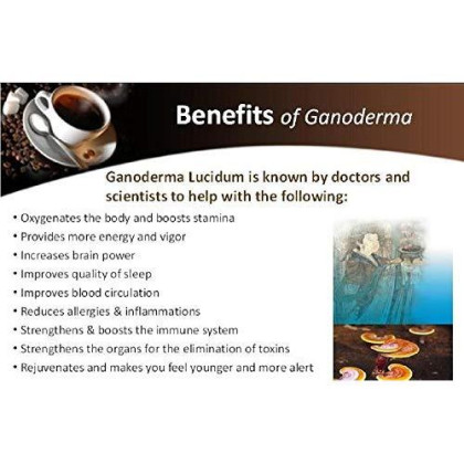 15 Packs Dxn Lingzhi 3 In 1 Lite With Ganoderma Healthy Coffee (Total : 300 Sachets X 21G)