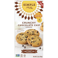 Simple Mills Crunchy Cookies, Chocolate Chip, 5.5 Oz, 3 Count