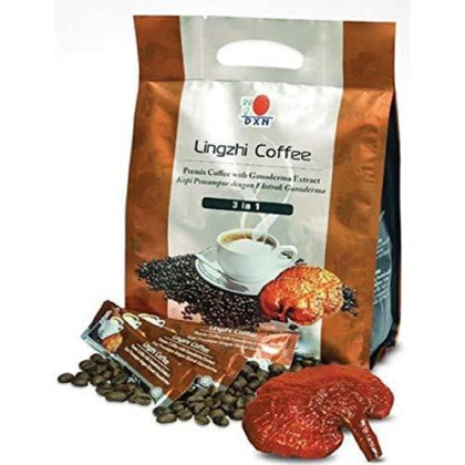24 Packs Dxn Lingzhi 3 In 1 Healthy Coffee With Ganoderma (Total : 480 Sachets X 21G)