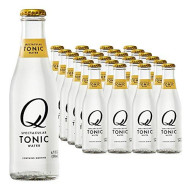 Q Mixers, Q Tonic Spectacular Tonic Water, Premium Mixer, 6.7 Fl Oz Glass Bottles (Pack Of 24)