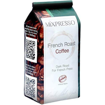 Mixpresso French Roast Coffee | Designed For The French Press | Whole Bean | 10 Ounce Bags - Pack Of 4