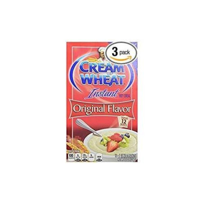 Cream Of Wheat Instant Hot Cereal Original Flavor 12 Oz. Pack Of 3.