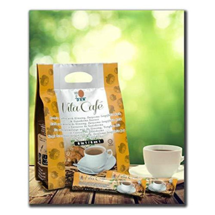 24 Packs Dxn Vita Cafe 6 In 1 Healthy Ganoderma Coffee With Ginseng And Tongkat Ali Eurycoma Longifolia Jack (Total 480 Sachets X 21G)