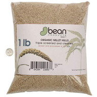 Bean Products Organic Millet Hulls Made in USA - 1 lb