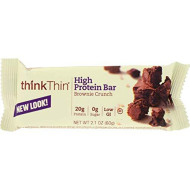 Think Products Thin Bar - Brownie Crunch - Case of 10-2.1 oz