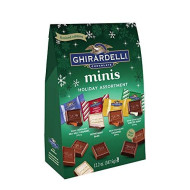 Ghirardelli Holiday Assorted Mini Squares Bag, 12.2 Ounce