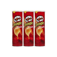 Pringles Original Potato Crisps Chips 5.2 Oz. (Pack Of 3 Cans)
