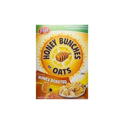 Post Honey Bunches Of Oats Cereal 14.5 Oz. Pack Of 3.