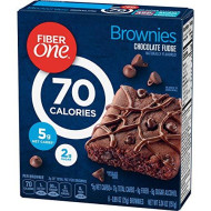 GMI FIBER ONE 90C BRWN Fiber One 90 Calorie Chocolate Fudge Brownies 6 ct Box, 5.34 oz