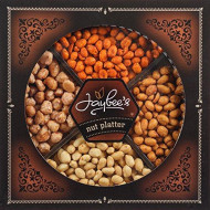 Jaybee'S Nuts Gift Tray - Great For Birthday, Corporate, Holiday Gift Or Everyday Snack - Contains Tasty Toffee Peanuts, Spicy Red, Honey Roasted &Amp; Fresh Salted Peanuts, And Kosher Certified