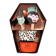 Meri Meri Halloween Cupcake Kit 45-2944, Set Includes 24 Liners And 24 Toppers
