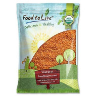 Organic Red Split Lentils by Food to Live (Dry Beans, Non-GMO, Kosher, Raw, Masoor Dal, Bulk) - 10 Pounds