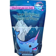 The Original Bag Poo, Narwhal Poo, Novelty Blue Cotton Candy Gag Gift